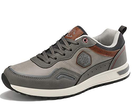 ARRIGO BELLO Zapatos Hombre Vestir Casual Zapatillas Deportivas Transpirables Gimnasio Correr Running Sneakers Al Aire Libre Tamaño 41-46 (Gris, Numeric_43)