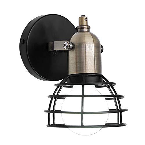 Artpad Brass Lamp Holder E27 Retro Wall Light Vintage Loft Bar Semi Circle Metal Accesorio de iluminación de pared Bombilla no incluida
