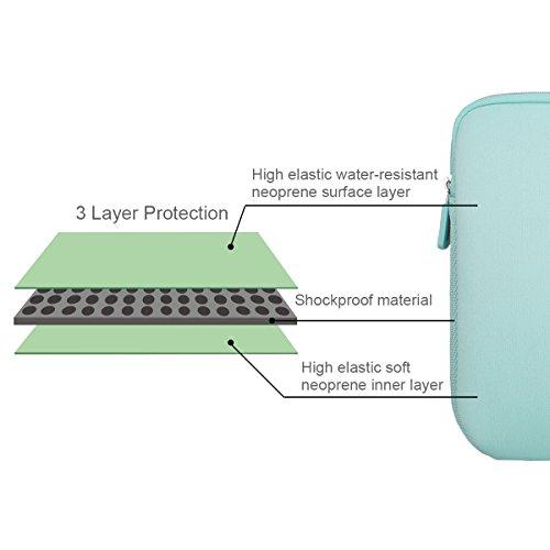 Arvok 11,6 Pulgadas Funda Protectora para Portátiles/Impermeable Ordenador Portátil Caso/Neopreno del Portátil Bolsa para Acer/ASUS/DELL/Fujitsu/Lenovo/HP/Samsung/Sony (Verde Claro)