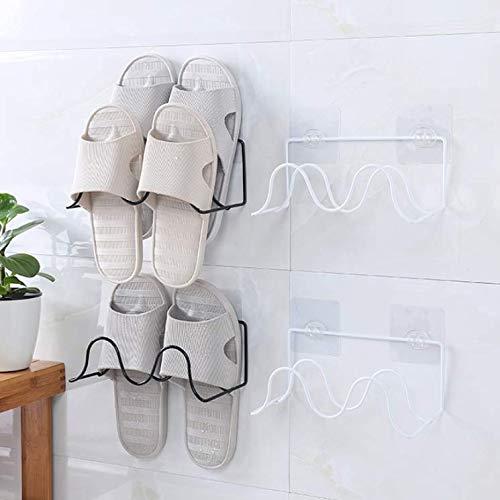 ASADVE No Hay Patines para Baño Sin Perforaciones, Racks De Pared.