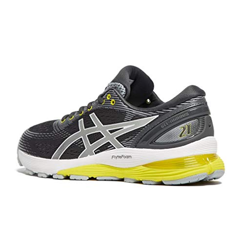 Asics Gel-Nimbus 21 - Zapatillas de running para mujer, color rosa, talla 42, Mujer, gris oscuro/gris claro, 40
