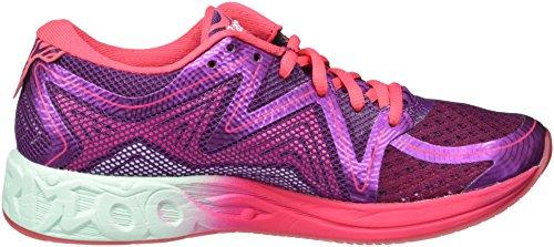 Asics Gel-Noosa FF, Zapatillas de Running para Mujer, Morado (Prune/Glacier Sea/Rouge Red), 39.5 EU