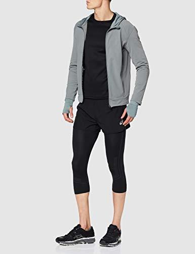 ASICS Silver Split Short Pantalones Cortos, Negro (Black 2011a008-001), L para Hombre