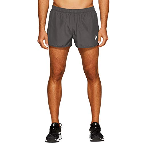 ASICS Silver Split Shorts, Gris Oscuro, M Unisex-Adult