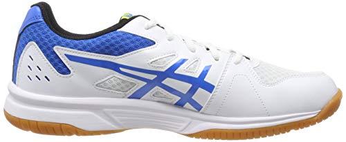 Asics Upcourt 3, Zapatos de Squash para Hombre, Blanco (White/Electric Blue 104), 45 EU