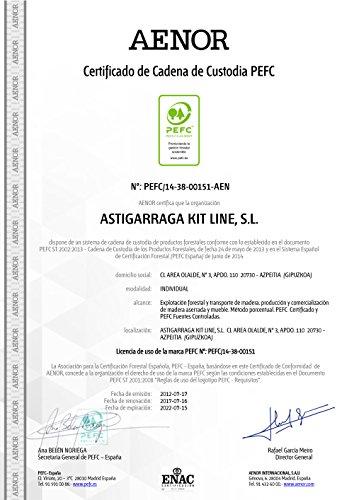 ASTIGARRAGA KIT LINE Estantería alistonada de 5 baldas regulables EVOLUTION