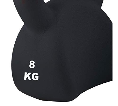 Athlyt - Kettlebell, 4 kg, negra