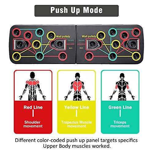 BAISIQI Push Up Board Tablero de Empuje 12 en 1 Press Up Desmontable Portátil Gimnasia de Soporte de Construcción Corporal Muscular del Cuerpo Deporte Rack Board