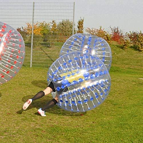 Ballylelly Deporte al Aire Libre Golpeador Humano Bumper Inflable Burbuja de fútbol Zorb Ball para Adultos Colisión Traje de Cuerpo Correr Deporte Juego Familiar