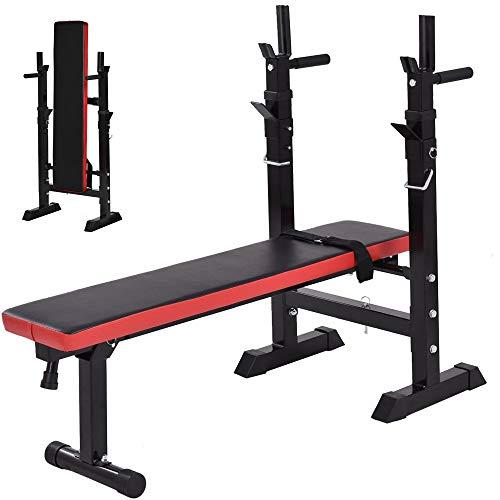 Banco De Musculacion Plegable,Banco Mancuernas Silla Romana Ajustable, Inclinada para Abdominales Planos,for Home Gym Exercises
