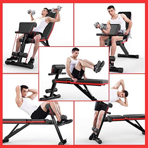 Banco de pesas plegable ejercicios entrenamiento Entrenador de espalda Estación de energía prensa Banco inclinado multifunción Antideslizante para de espalda abdominal Bancos de pesas de fuerza