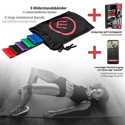 Bandas Elásticas en Bucle Set/Cintas de Resistencia + eBook Guía de Ejercicios | Natural Loop Glúteos Bands, Fitness Gimnástica Gluteband Gomas Crossfit Fisioterapia Boxeo Pilates Yoga