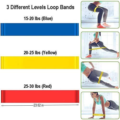 Bandas resistencia elástica de fitness Kit banda entrenamiento hombres y mujeres 5 tubos látex manijas goma espuma anclajes puertas correas tobillos bolsa portátil Adecuado para hogar equipo de yoga
