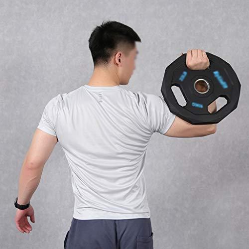 Barra olímpica estándar Grip Placa de Peso, Levantamiento de Pesas con Barra Individual Pesas Grande del Agujero Principal Equipo de la Aptitud, 2,5 kg-20 kg, 5.5lb-44lb (Size : 20kg/44lb)