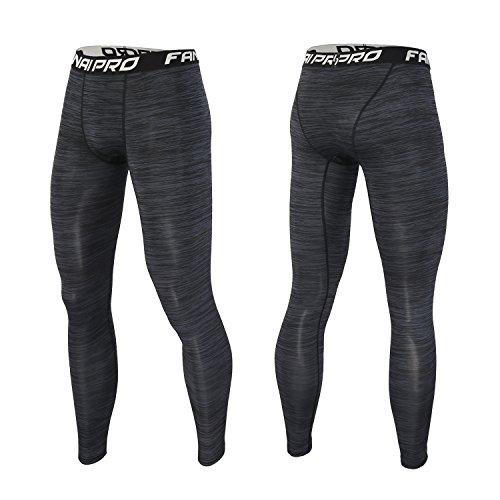 Barrageon Pantalones Largos Tight de Comprensión para Hombre Mallas Largas de Deportivos Baselayer Secado Rápido para Ejercicio Gimnasio Entrenamiento Cruzado Correr Baloncesto Jogging-2XL