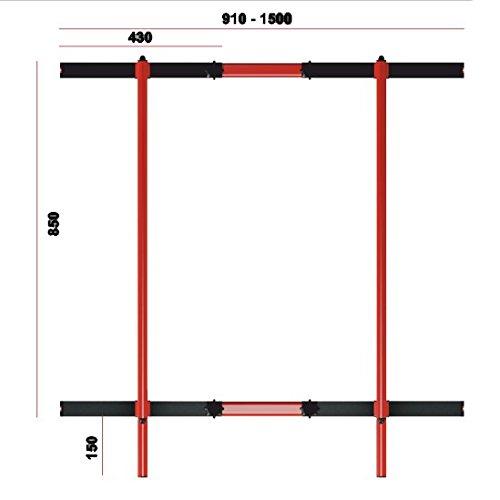 Barras de Altura Ajustable 95-105cm para Dominadas, Màximo de 275kg Crossfit, Calistenia Dip Estación, Paralelas,
