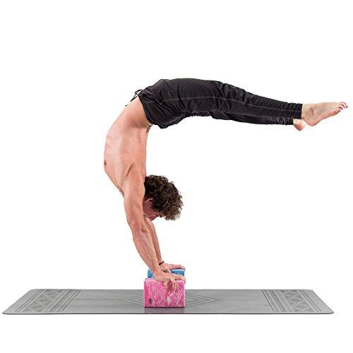 Base yoga Bloque de Yoga - Fuerte/Sólido/Ligero Espuma de Eva Soporte Bloque - Azul