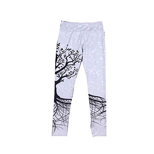 BaZhaHei Mujer Pantalones Largos Deportivos Patrón de árbol Leggings para Running Yoga y Ejercicio Mallas Deportivas ImpresióN De áRbol Deporte Fitness Gym Pantalon EláSticos Running