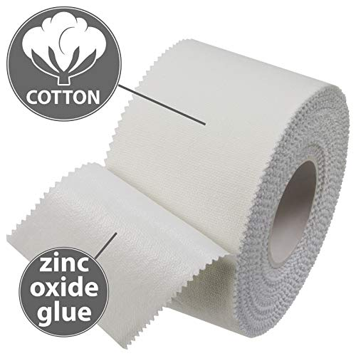 BB Sport Sport Tape 3.8 cm x 10 m Cinta Adhesiva Deportiva Blanco en Diferentes cantidades, Cantidad:6 Rollos