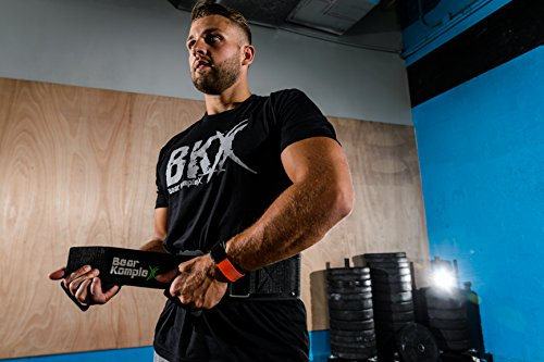 Bear KompleX Weighlifting Belt for Powerlifting, Crossfit, Squats, Weight Training and More. Low Profile Velcro with Super Firm Back for Maximum Stability and Exceptional Comfort. Easily Adjustable