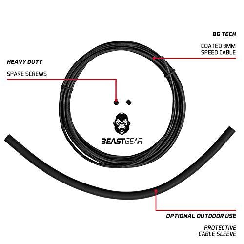 Beast Gear - Cable de Repuesto y Piezas de Repuesto para Comba Beast Rope Elite