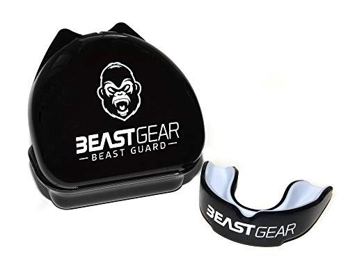 Beast Gear - Protector Bucal Boxeo/Protector de Encía 'Beast Guard' - para Boxeo, MMA, Rugby, Muay Thai, Hockey, Judo, Karate, Artes Marciales y Todos los Deportes de Contacto