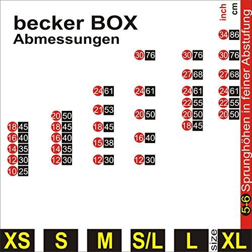 Becker-Sport Germany Becker Box XS - Primero en el mundo, CAJA 5 en 1, (BSG 28951) caja plyo única con 5 alturas de salto