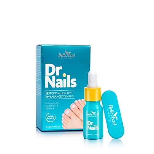 Belle Azul - Dr.Nails - Tratamiento Anti-Hongos para Uñas con Aceite de Argán Orgánico Puro, Rápido y Eficaz, Antibacteriano, Antiséptico y desinfectante, 10ml