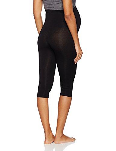 Bellinella BL1005, legging premamá Mujer, Negro (Schwarz), 38 (Talla del fabricante: Medium)