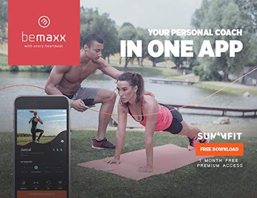 BeMaxx Anillas de Gimnasia de Madera Fitness + Anclaje para Puerta & guía de Ejercicios | Set de Entrenamientos gimnásticos & Correa + Hebillas | Crossfit, Gimnasio, Deporte en casa | Adultos, niños