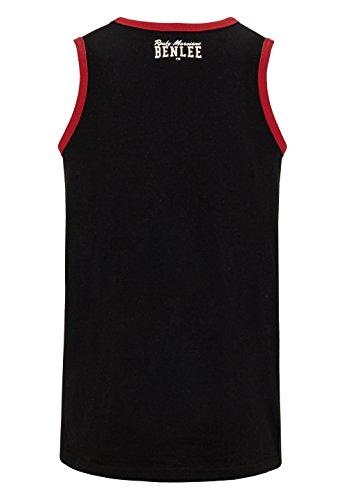 BENLEE Rocky Marciano Men Jersey Singlet Pittsfield Camisa, Hombre, Negro, XL
