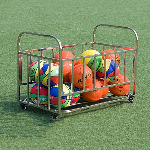 BESTSOON-SOCF Soporte de Bolas Almacenamiento de Deportes de Pelota de Almacenamiento de Deportes de Pelota Bola de los Deportes Jaula de Metal del balanceo para balón Deportivo