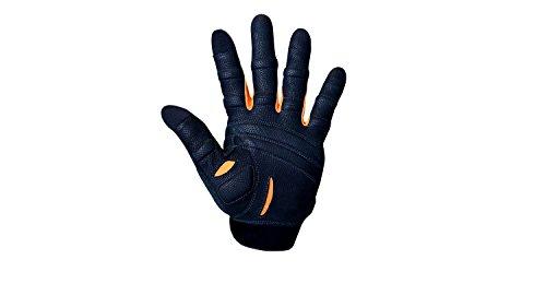 BIONIC Guante Hombres de la capacitación Dedo Completo Guantes w/tecnología de Ajuste Natural, Gris/Naranja (par), Hombre, Gray/Orange