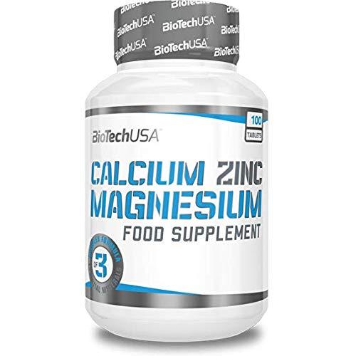 BioTech Calcium Zinc Magnesium Complejos, Sabor sin Sabor - 100 gr