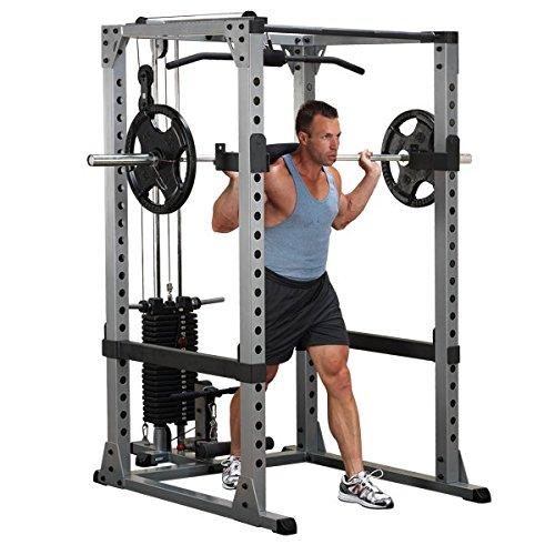 Body Solid - Estructura para ejercicio, Grundrahmen mit Latzug und Dipstangen