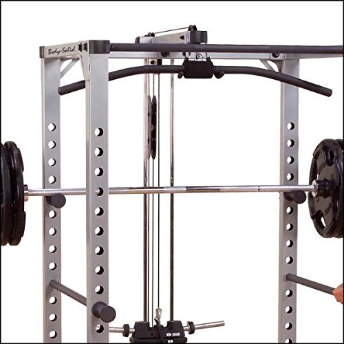 Body-Solid GPR-380 Power-Rack Power-Cage - Caja de herramientas con barra de dominadas, Grundrahmen mit Latzug