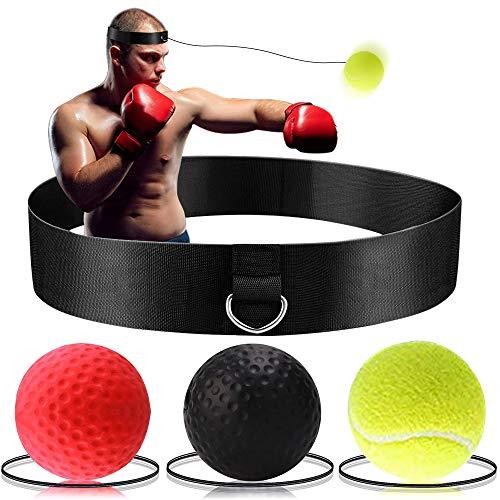 Bola Reflex de Boxeo - Bola de Entrenamiento de Boxeo Victoper 3 Nivel de Dificultad Bola de Boxeo con Diadema, Traje para Reacción, Agilidad, Velocidad de Golpe, Habilidad de Lucha y Entrenamiento