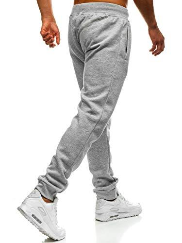 BOLF Hombre Pantalón Jogger Deportivo Jogging Entrenamiento Deporte Estilo Urbano J.Style XW01 Gris XXL [6F6]