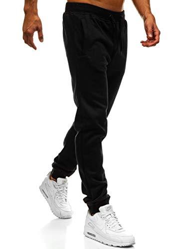 BOLF Hombre Pantalón Jogger Deportivo Jogging Entrenamiento Deporte Estilo Urbano J.Style XW01 Negro XXL [6F6]