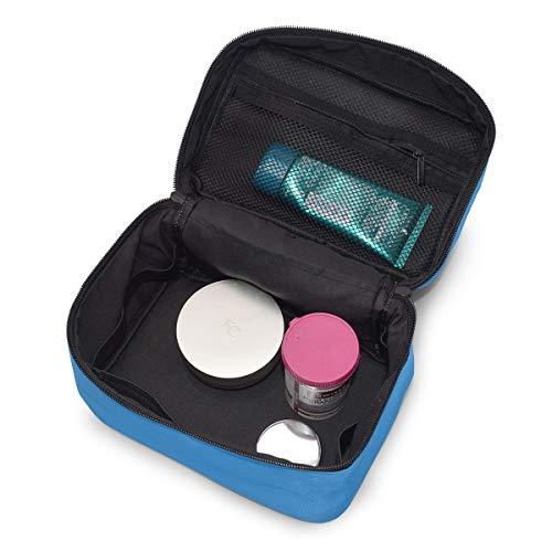 Bolsa de maquillaje de viaje Playa Madera Palma Hojas Estuche cosmético portátil Organizador Bolsa de aseo Bolsa de maquillaje Estuche de tren para mujeres Niñas