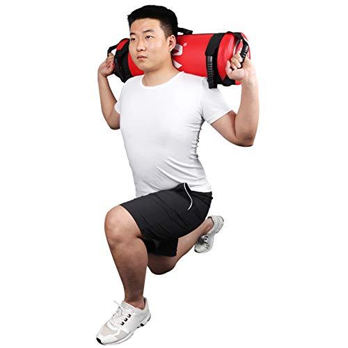 Bolsas de Arena para Levantamiento de Pesas Power Bag con Asas y Cremallera Fitness Ajustable en Peso, Carrera, Ejercicio, Levantamiento de Pesas y Entrenamiento Funcional