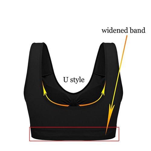BOOLAVARD® 3-Piece Set confort Sport Bra: blanco, negro y color de la piel.