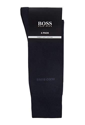 BOSS RS Uni CC Calcetines, Azul (Dark Blue 401), 43/46 (Talla del fabricante: 43-46) (Pack de 2) para Hombre