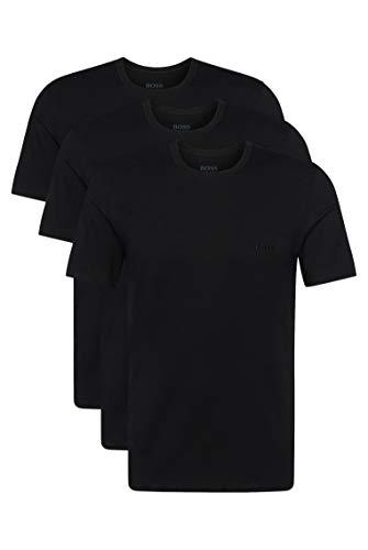 BOSS T-Shirt RN 3p Co Camiseta para Hombre, Negro (Black), Medium, pack de 3