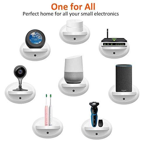 Bovon Estante de Pared Pequeña, Estante Mural para Echo Dot 3, Sonos, Google WiFi, Altavoces de Casa Inteligente y Movil, Organizador para Arreglo Cable de Cualquier Dispositivo de hasta 15 Libras