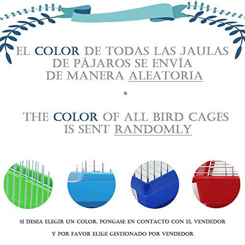 BPS Jaula Pájaros Metal con Comedero Bebedero Columpio Saltador Cubeta 2 Tamaños M/L Color envia al Azar (M: 30 x 23 x 47 cm) BPS-1207