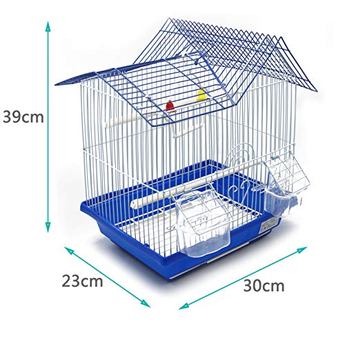 BPS Jaula Pájaros Metal con Comedero Bebedero Columpio Saltador Cubeta 30 x 23 x 39 cm Color al Azar  BPS-1164