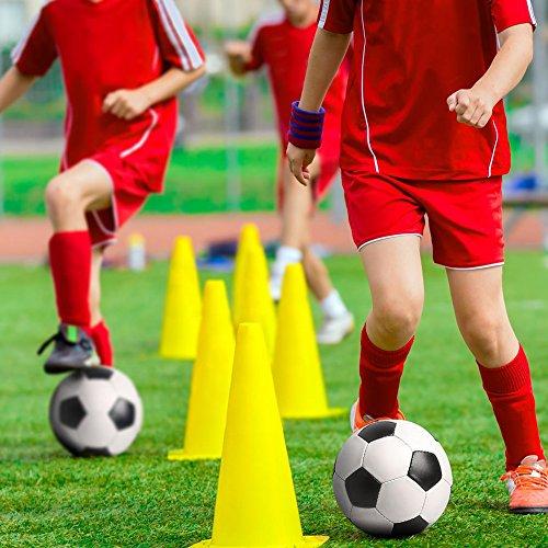 """BRAMBLE! 12 Conos de Tráfico para Entrenamiento, 23cm/9"""" - Duradero y Estable Conos Señalizacion - Plástico Entrenamiento Fútbol, Deportes y Juegos, Entrenamiento del Perro."""