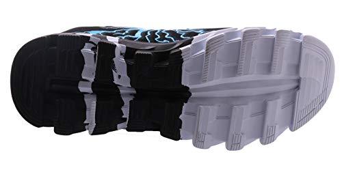 BRONAX Zapatos para Correr en Montaña y Asfalto Aire Libre y Deportes Zapatillas de Running Padel para Hombre Negro Azul 43