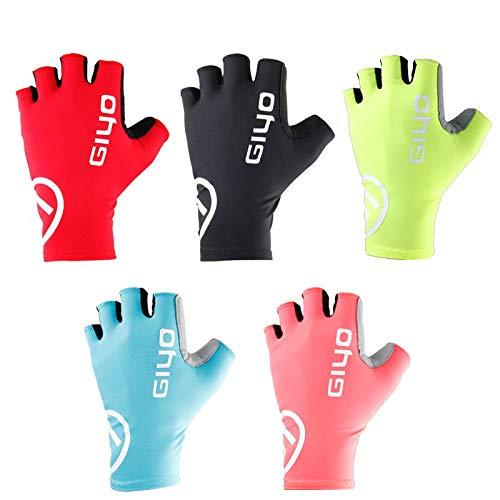 Bruce Dillon Riding Half Finger Gloves Non-Slip Bike Gloves Racing Road Bike Gloves Mountain Bike - Black X S